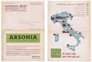 1937 ARSONIA paint flyer