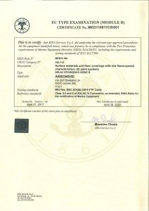 RINA certifications MED B-D for Arsonsisi epoxy powder coatings