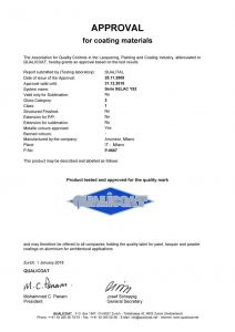 Qualicoat certificates for Arsonsisi powder coatings Y52 series