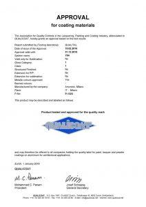 Certificados Qualicoat para pinturas en polvo serie Y54