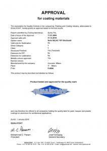 Certificados Qualicoat para pinturas en polvo serie Y57
