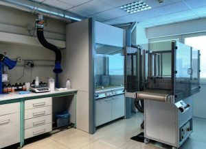 The laboratory for the development of UV coatings